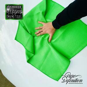 Car-Drying-Towel-Aqua-Magnet-Waffle-Weave-Microfibre-Cloth-Pure-Definition