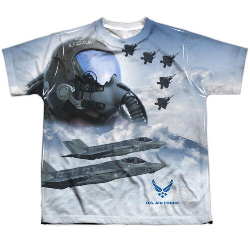 US Armed Forces Air Force USAF Pilots Strike Mode Big Boys Front Print T-Shirt