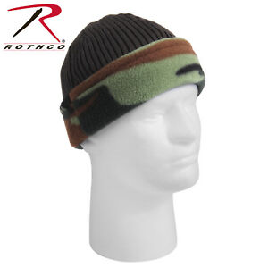 856ea15f579 Image is loading Reversible-Camouflage-Olive-Drab-Military-Polar-Fleece- Beanie-