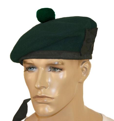 Balmoral hat beret Scottish hat pipe band Kilmarnock bonnet green black