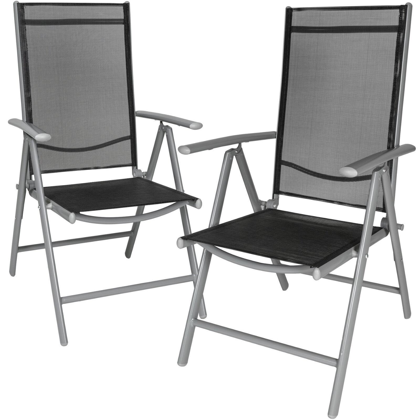 Aluminio Sillas de jardín plegable alu sillón balcón terraza