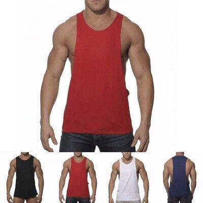 Señores manga sonríe muscular camisa Tank Top Jersey Big Tank t-shirt sin mangas