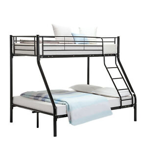Triple Sleeper Metal Bunk Bed Frame 3ft Single 4ft6 Double For Adult
