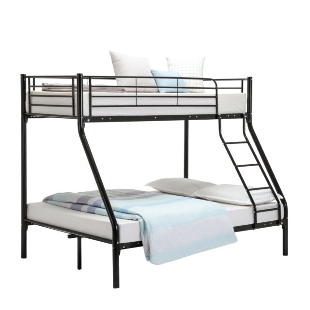 Triple Sleeper Metal Bunk Bed Frame 3ft Single 4ft6 Double for Adult ...