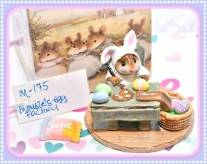 ❤️Wee Forest Folk M-175 Mousey's Mousie's Egg Factory Easter Bunny Retired❤️