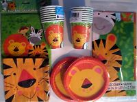 Animal Jungle Birthday Party Supply Set Pack Kit For 16 W/ Loot Bags
