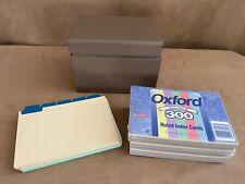 Tin Box Index Holder Vintage Nos Pop Up Metal Recipes Mcm Lot Cards Oxford File