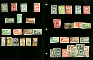 Lebanon-Lot-of-60-Early-mint-used-Revenue-Stamps-VF