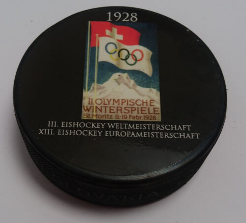 Vintage Hockey Retro Puck Championship select 1920 1924 1928 1930