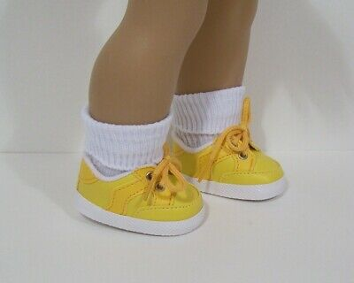 "Doll Yellow Sneakers for 18/"" American Girl Doll Yellow Tennis Shoes Sneakers"
