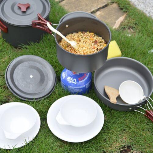 Utensilios de Cocina 3-5 Personas Menaje Camping Senderismo Acampada Olla Sartén