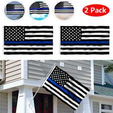 3x5 USA Police Thin Blue Line Flag Memorial Law Enforcement Trump FAST FREE SHIP