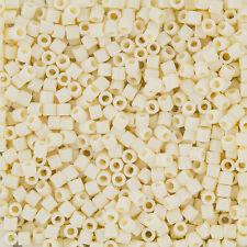 Miyuki Delica Seed Beads Size 8/0 (3mm) Opaque Cream 6.8g Tube (J102/11)