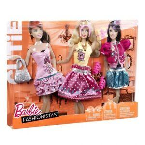 Ensemble de garde-robe Barbie Trend Fashion Outie, New & Ovp