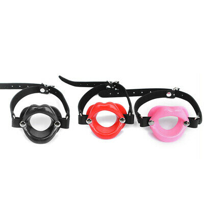 Silicone-Mouth-Gag-Lips-w//Strap-O-Ring-Open-Lip-Ball-Costume