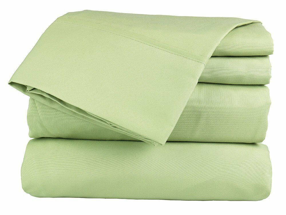 Home Bedding Collection 100% Cotton Soft & Smooth Sage Solid  800 Thread count