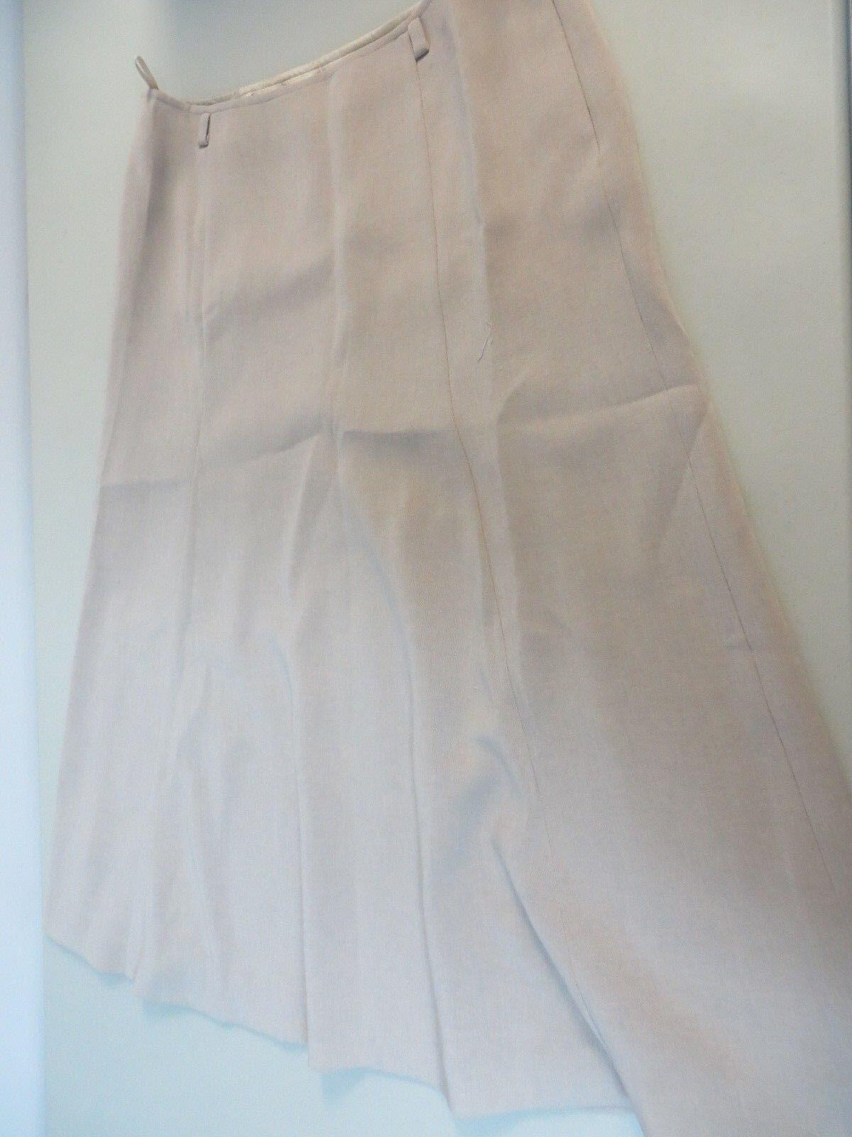 MAX MARA 8 triacetate polyester A-line panel below knee skirt tan