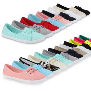 the latest 208d1 a8c7c Details zu Damen Sneakers Ballerinas Casual 99550 Sommer Stoffschuhe Flats  36-41 New Look