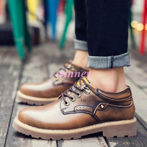 32733c03327 2019 Men s Lace Up Leather Hiking Outdoor Work Casual Athletic safety shoes  Hot