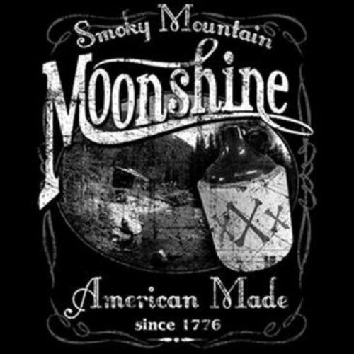 SMOKY MOUNTAIN MOONSHINE WHISKEY MOONSHINERS T SHIRT M TO 6X
