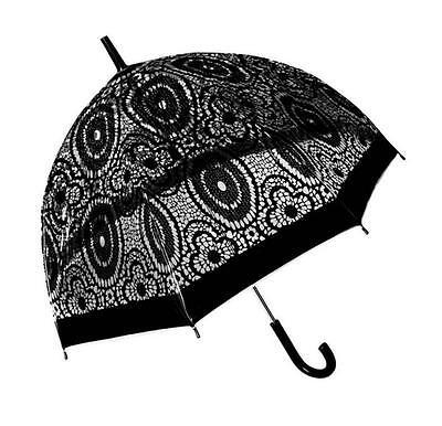 Baroque Lace Clear Dome POE Umbrella - Birdcage, Fashion, Adult