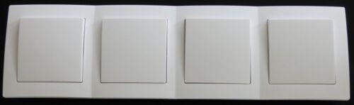B7778 LEVINA Schalterserie Exclusiv Wechselschalter 4fach UP Rahmen weiss