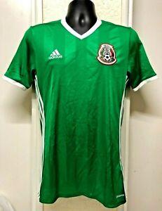 MEXICO Adidas Climacool V-Neck Soccer Jersey Men Sz: S Green ...