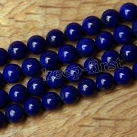 Genuine 10mm Natural Blue Lapis Lazuli Gemstone Round Loose Beads 15'' AAA