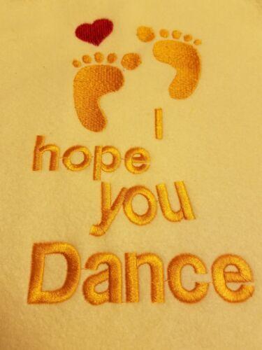 Handmade Personalized Embroidery Baby Fleece Blanket with Baby Feet