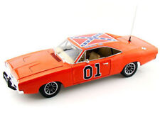 Autoworld 1969 Dodge Charger Dukes Of Hazzard General Lee Amm964 Orange 1/18