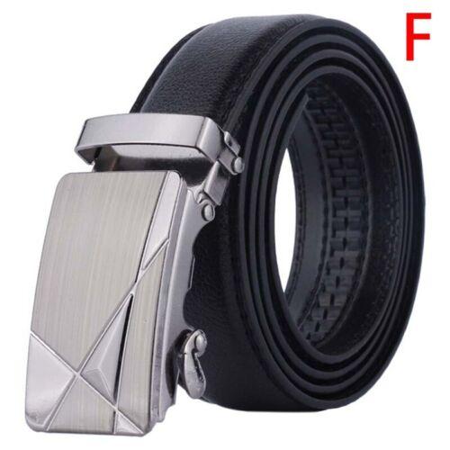 Automatic Buckle Belt Men/'s Leather Belt Business Fashion Belts Black 11 ISFBDU