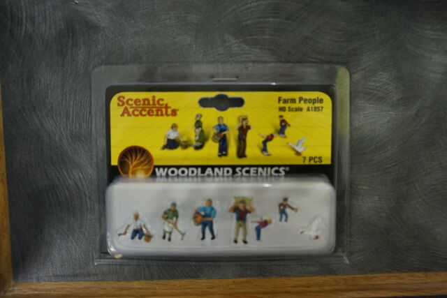 Woodland Scenics FARM PEOPLE 1:87 HO Trains Figures Scenery Scenic Accents A1857