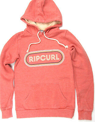 Rip Curl Hooded Pullover Surf Fleece Washed Pink Red Rip Curl Hoodie