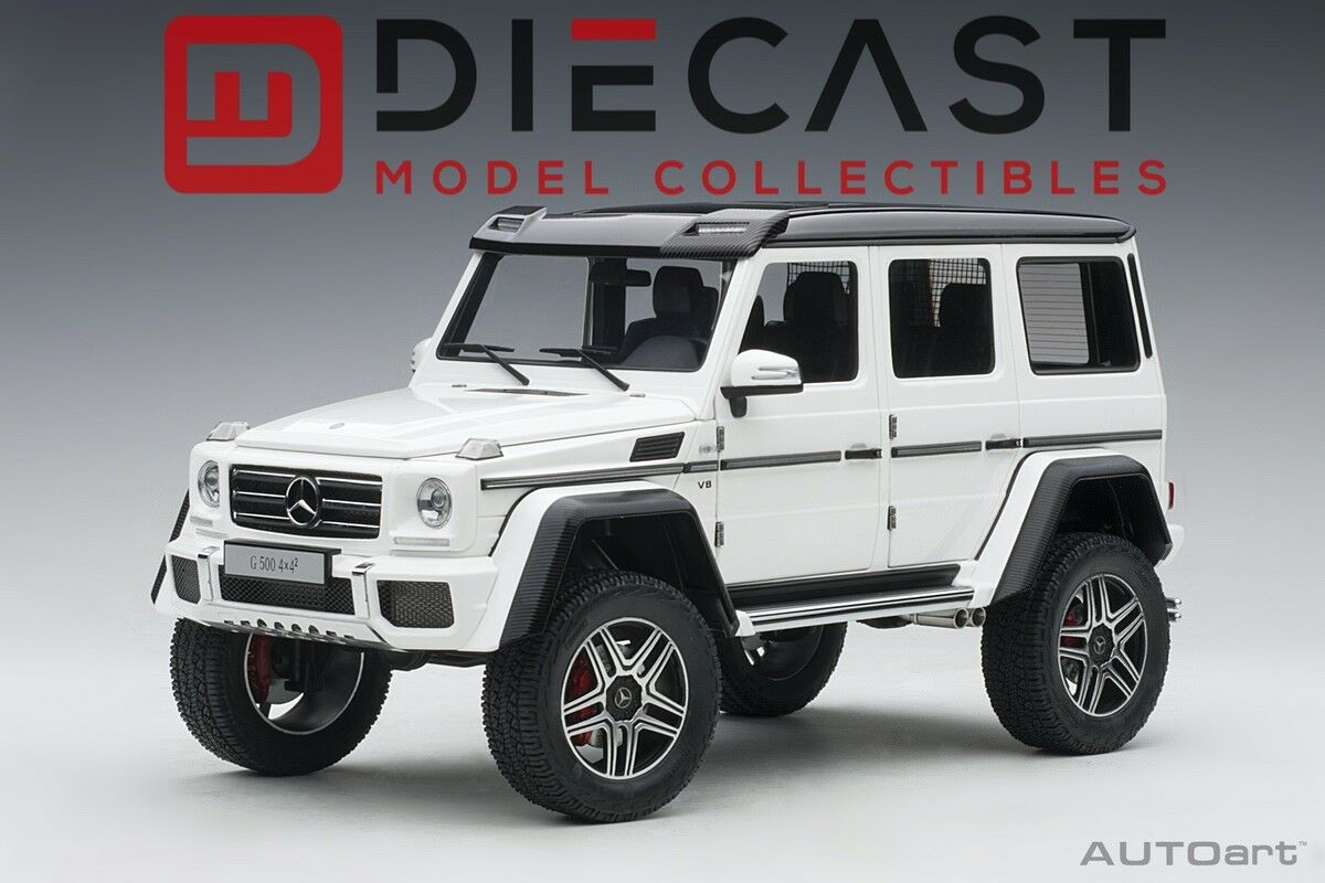 Autoart 76316 Mercedes Benz G500 4X4 2, blancoo brillante escala 1 18TH