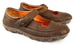 Born-Brown-Leather-Mary-Jane-Flats-Size-7-5-38-5-Driving-Loafers-Womens-Shoes