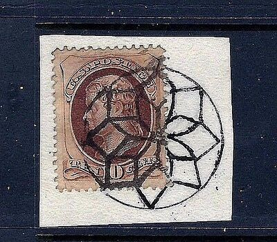 US Fancy Foreign Mail GEOMETRIC Cancel ~ Weiss #GE-EN4 & Cole #NYFM-16  ...[MB7]