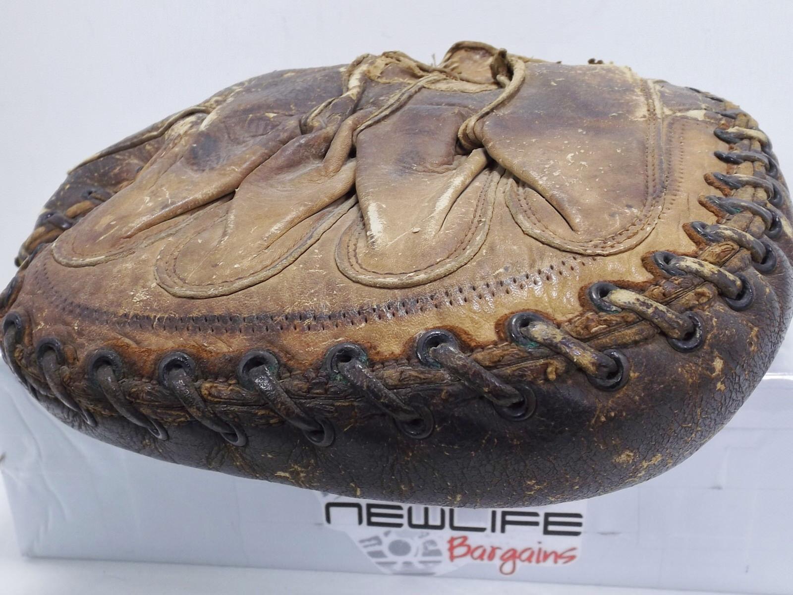 RARE Glove Vintage Left Hand Baseball Catcher Mitt Glove RARE 15e684