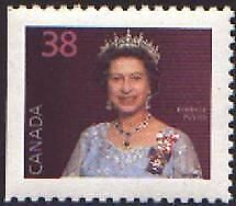 Canada Stamp #1164as - Queen Elizabeth II (1988) 38¢ Booklet single with stra...