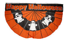 Wholesale Lot 5 Pack 3x5 Happy Halloween Ghosts Ghost Bunting Fan Flag 3'x5'