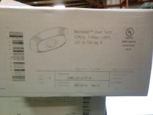 COOPER GREENGATE OMC-DT-0701-R  MICROSET DUAL TECH 32KHZ 1-WAY (180 DEGREE)