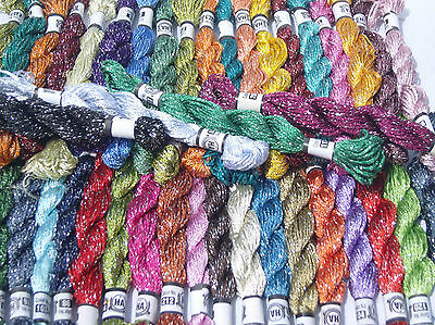 50 Embroidery  Silk Threads 50 diff. Colours