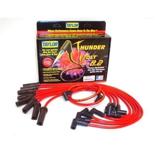 Taylor Spark Plug Wire Set 84276; ThunderVolt 8.2mm Red for Dodge//Jeep V8