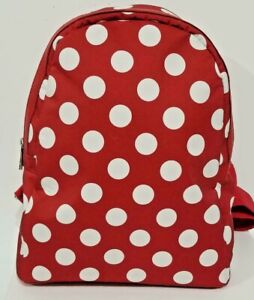 Italian-red-backpack-combo-leather-amp-polka-dots-by-Vittoria-Pacini