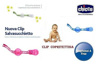Glorioso Chicco Clip Clap Clip Copritettina X Succhietto Collezione Nuova Guidare Un Commercio Ruggente