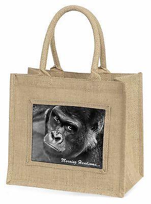 Gorilla mit Morning Attraktiv' Große Natürliche Jute-einkaufstasche Ch,MH-AM2BLN