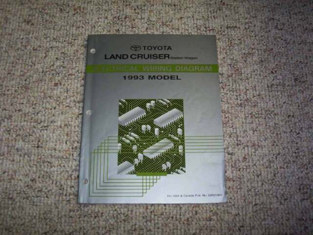 1993 Toyota Land Cruiser Electrical Wiring Diagram Manual