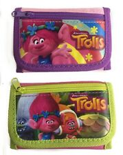 Dreamworks Trolls Poppy & Friends Set of 2 Children girl's Tri Fold Wallet