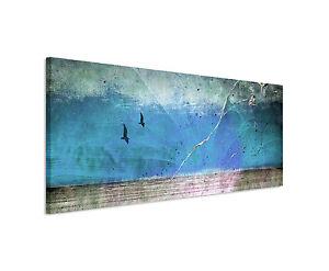 150x50cm Panoramabild Paul Sinus Art Abstrakt blau rot braun grau ...