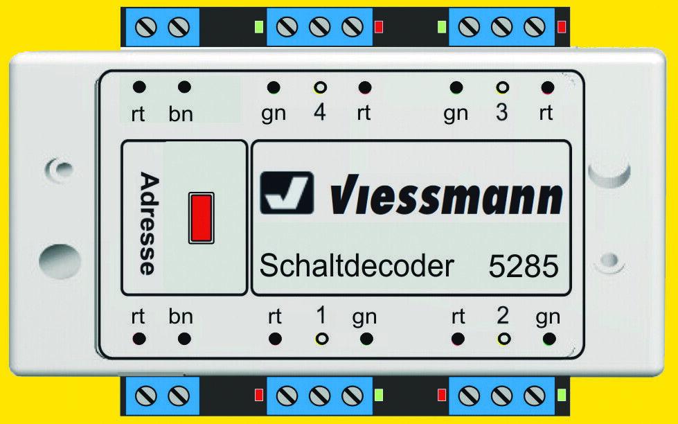Viessuomon 5285 multiprossoocollo quadro decoder per DCC e Motorola Nuovo