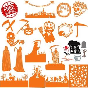 Halloween-Decoration-Castle-Metal-Cutting-Dies-DIY-Craft-Embossing-Scrapbooking